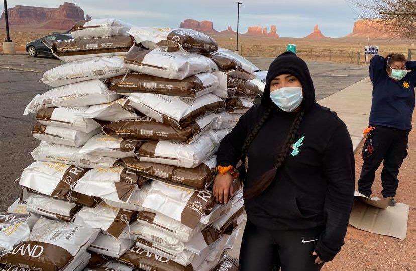 Shandiin Herrera in Monument Valley, Utah-Credit Navajo Hopi Family Relief Fund