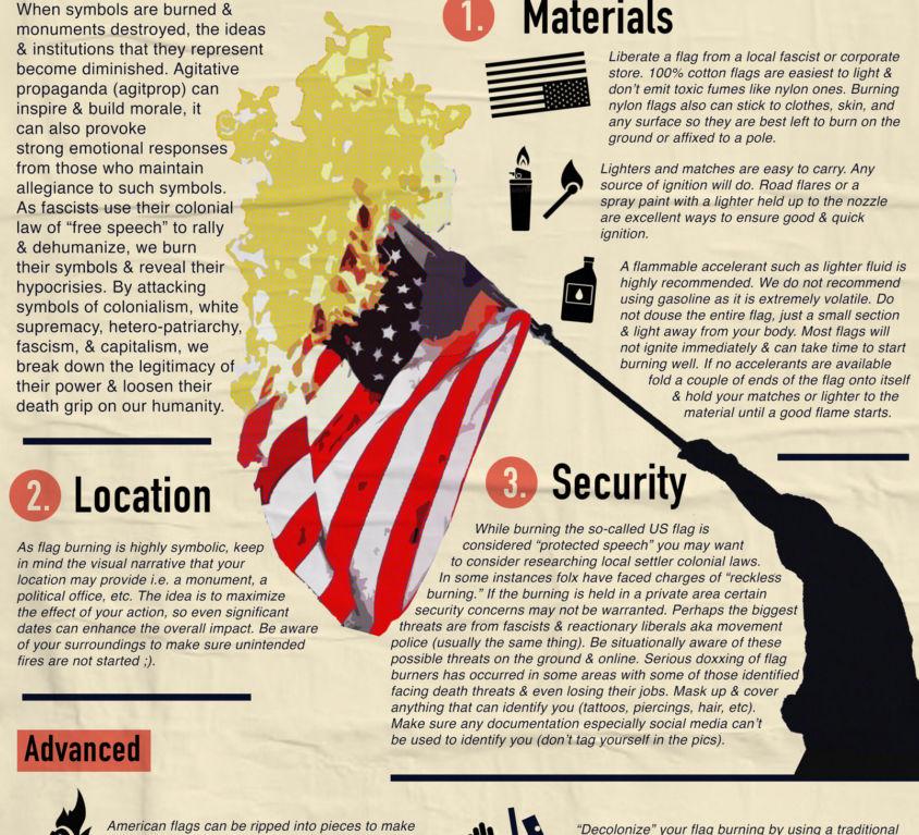 how-to-burn-an-american-flag